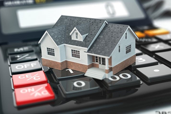 House on a calculator