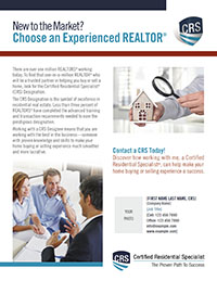 New to the Market? Choose an Experienced REALTOR®