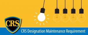 CRS Designation Maintenance Requirement Banner 2