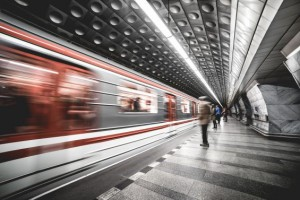 Prague metro subway station_0